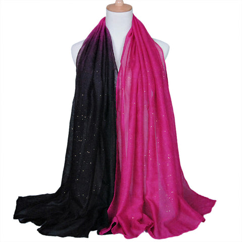 Voile Scarf Soft Gradient Style Wrap  Sheer Scarf