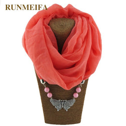 [RUNMEIFA] Scarves  Jewelry Alloy Necklaces Pendant