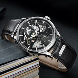 Luxury Brand Switzerland Nesun Skeleton Watch  Sapphire Crystal Water