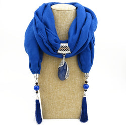 Mantieqingway 12 Colors Women Pendant Scarves Jewelry Long Tassel Necklce