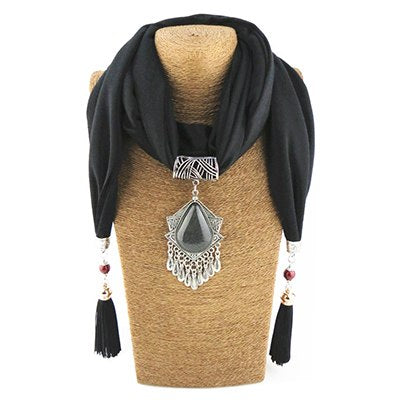 fashion pendant Jewelry scarf necklace shaw cotton soft scarves