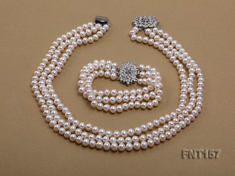 Charming Pearl  Top Quality Freshwater Pearl Rhinestone Clasp