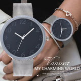 vansvar Casual Quartz Stainless Steel Band Marble