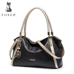 FOXER  Genuine Cow Leather Handbags High Quality