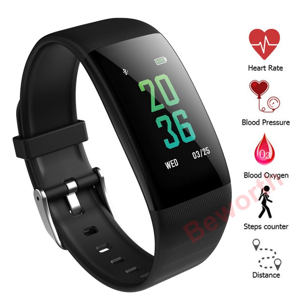 Men's Blood Pressure Heart Rate Smart Watch  Sports Wrist Watch