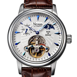 Nesun Skeleton Tourbillon Watch Men Switzerland Luxury Brand