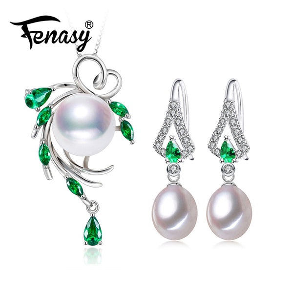FENASY Pearl Jewelry Sets 925 sterling silver