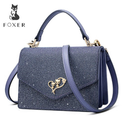 FOXER 2019  Glossy Leather Messenger Bags Lady
