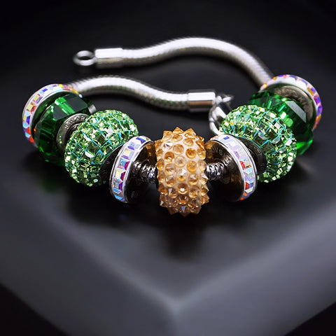 "Bracelet ""BeCharmed Pavé V"" with Swarovski™ beads"