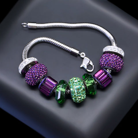 "Bracelet ""BeCharmed Pavé III"" with Swarovski™ beads"