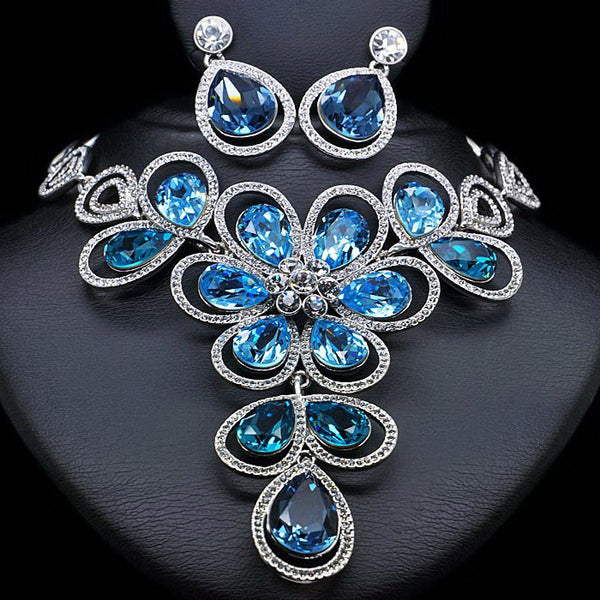 "Jewelry Set ""Rosemary"" with Crystals From Swarovski™"