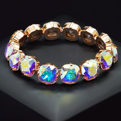 "Bracelet ""Glare (Aurore Boreale)"" with crystals from Swarovski™"