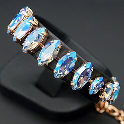 "Bracelet ""Ornella (Light Sapphire Shimmer)"" with crystals from Swarovski™"