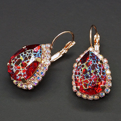 "Earrings ""Celestial Drop III (Scarlet White Patina)"" with Crystals From Swarovski™"
