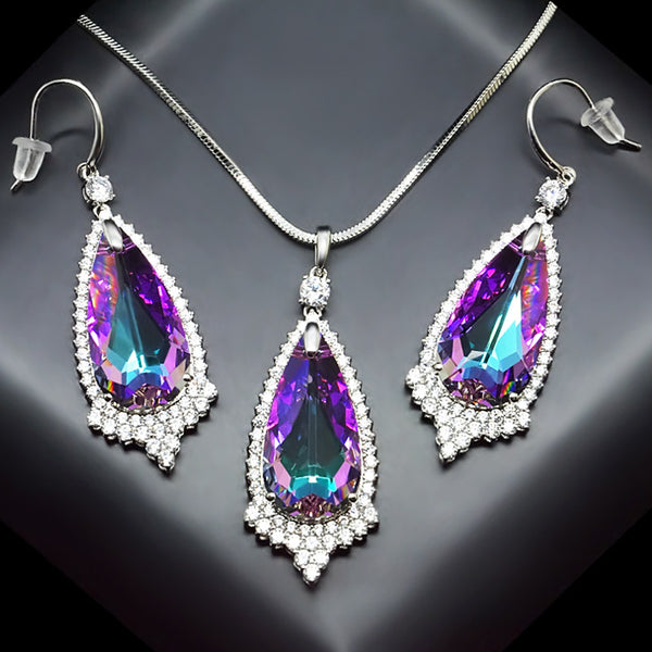 "Jewelry Set ""Angel's Tear"" with crystals from Swarovski™"