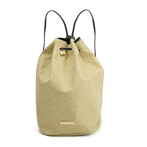 SY2181 GOLD - Bucket Bag With Rope Bundle Mouth
