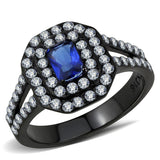 TK3449 IP Black(Ion Plating) Stainless Steel Ring with Synthetic in Montana