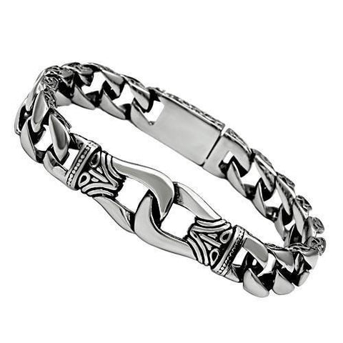 TK435 High polished (no plating) Stainless Steel Bracelet with No Stone in No Stone