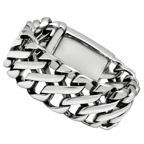 TK447 High polished (no plating) Stainless Steel Bracelet with No Stone in No Stone