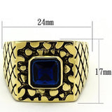 TK763 IP Gold(Ion Plating) Stainless Steel Ring with Synthetic in Montana