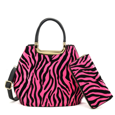 VK8888-1 O - Shell Set Bag With Zebra-Stripe Design