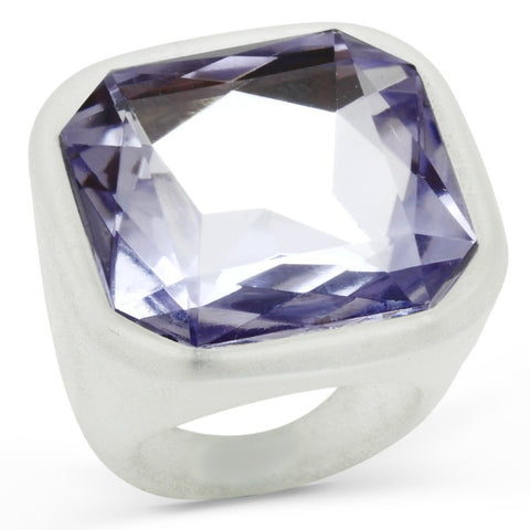VL013 N/A Resin Ring with Synthetic in Light Amethyst