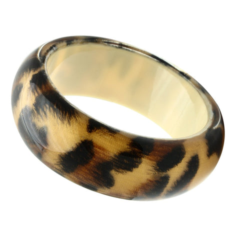 VL034 N/A Resin Bangle with Synthetic in Animal pattern