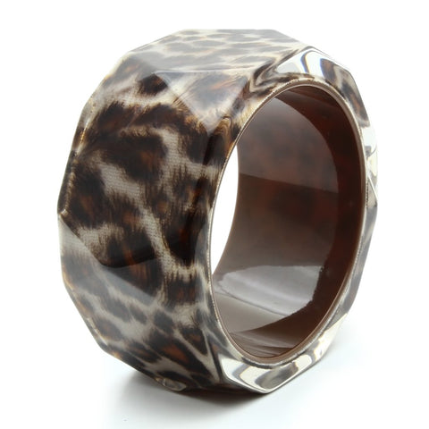 VL035 N/A Resin Bangle with Synthetic in Animal pattern