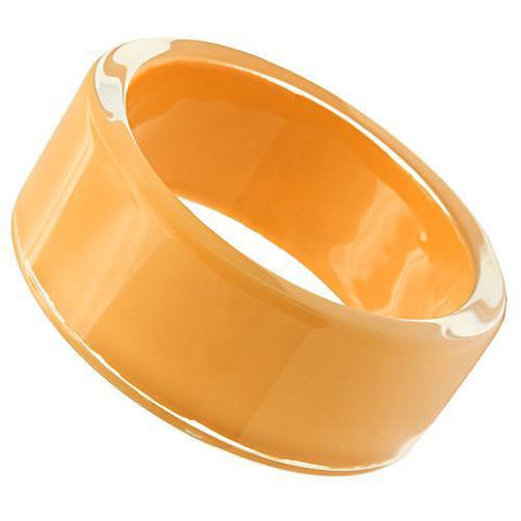 VL043 N/A Resin Bangle with Synthetic in Orange