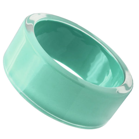 VL044 N/A Resin Bangle with Synthetic in Emerald