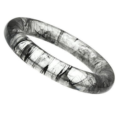 VL050 N/A Resin Bangle with No Stone in Jet