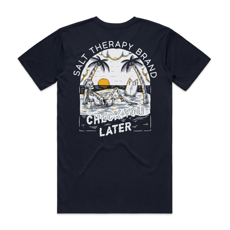 CHECK YOU LATER PREMIUM TEE - NAVY