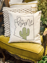 "Arizona Cactus ""Home"" Pillow"