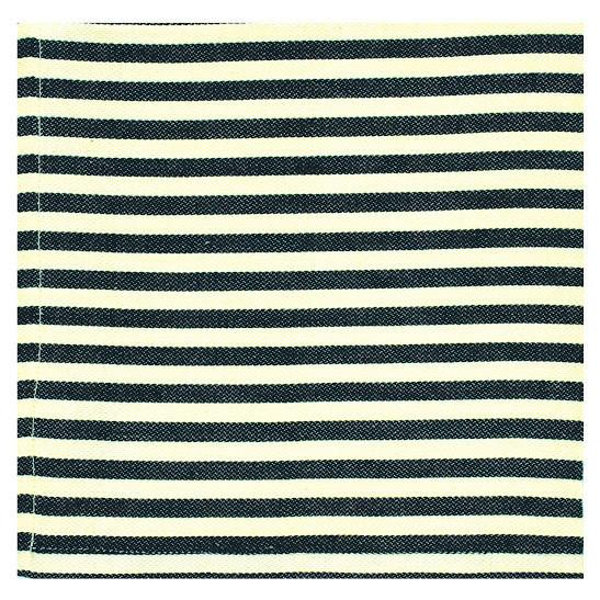 Set of 4 Petite Black Striped Napkins