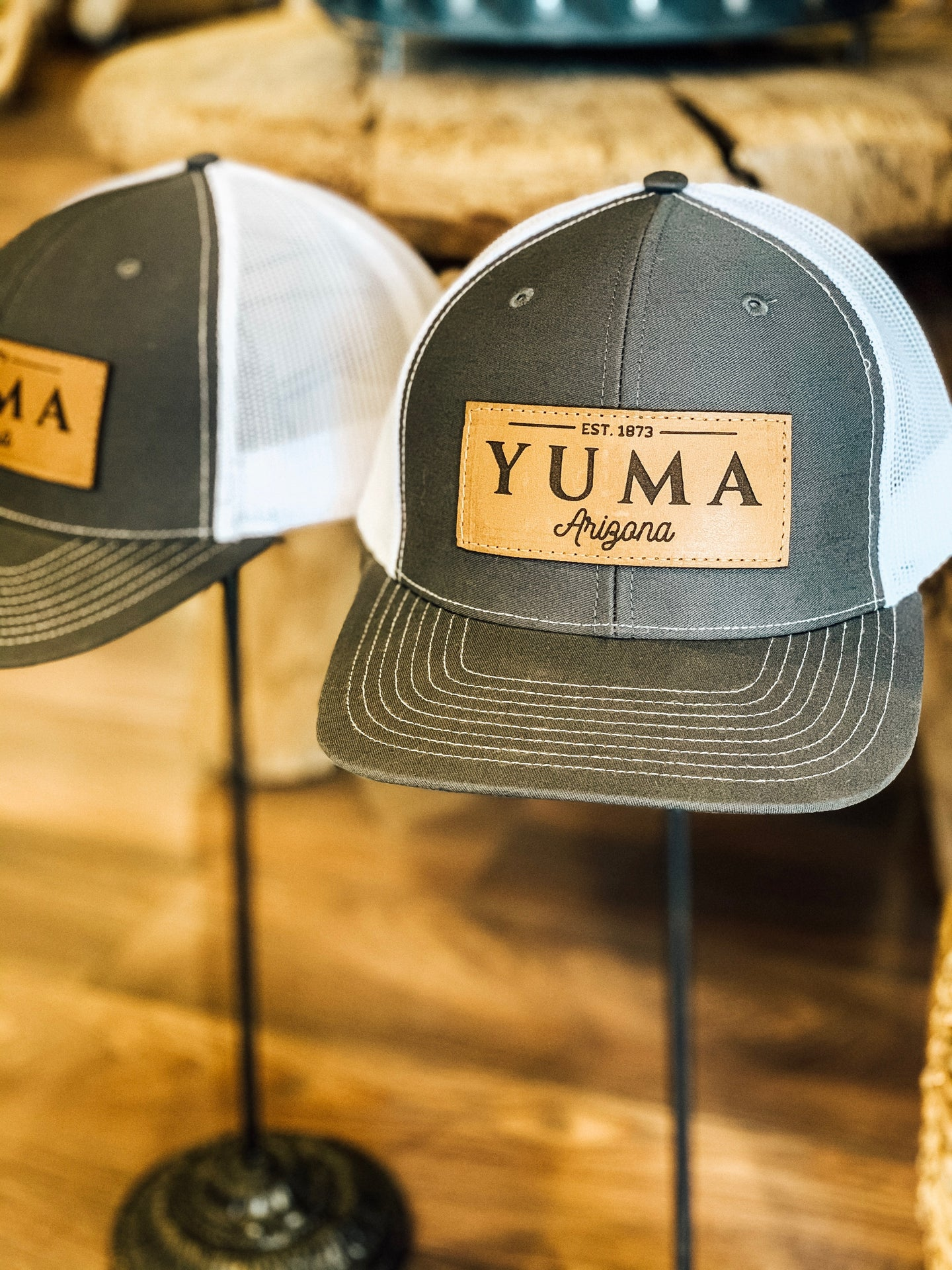 Yuma Leather Patch Hat