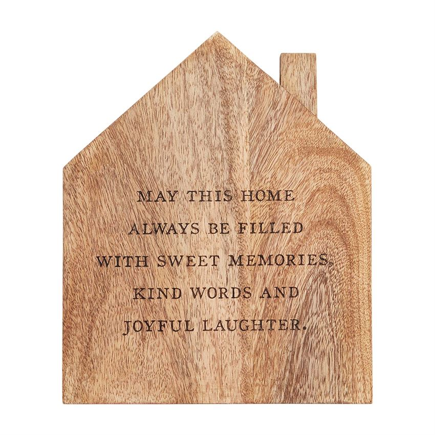 House Shaped Wood Trivet