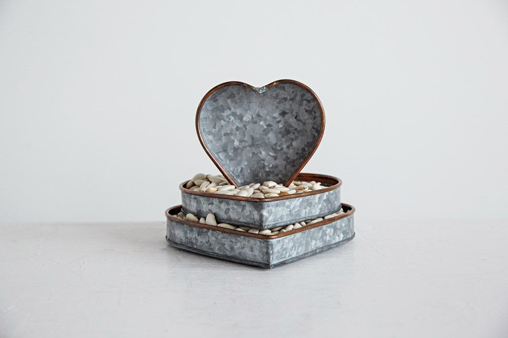 Metal Heart Trays