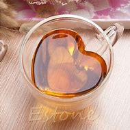 Double-Walled Heart Glass Mug