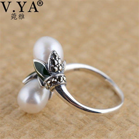 Freshwater Pearls Vintage Natural Peal Finger Ring For Women - Gracyfy