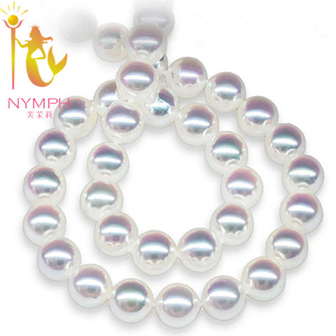 natural freshwater perfectly Round  pearl collar necklace - Gracyfy
