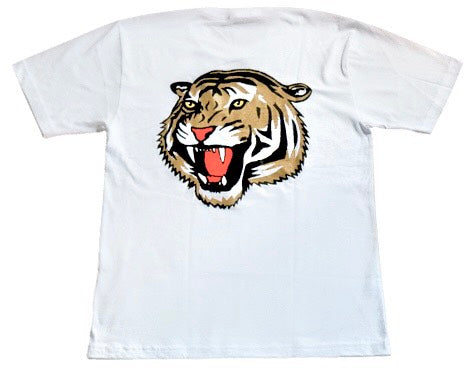 White v2 Tiger Oversized Tee