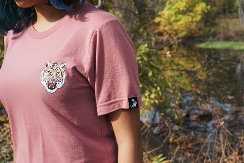 Rose Pink Flagship Jungle Tiger Tee