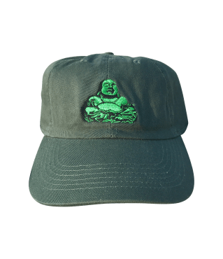 Dark Green Lucky Buddha Dad Hat