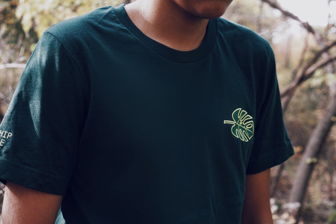 Forest Green Flagship Jungle Leaf Tee