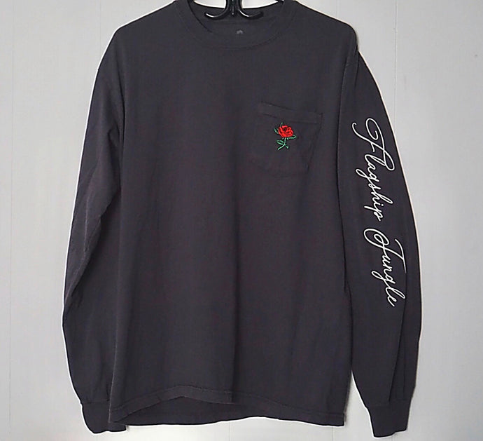 Long Sleeve Rose Pocket Tee