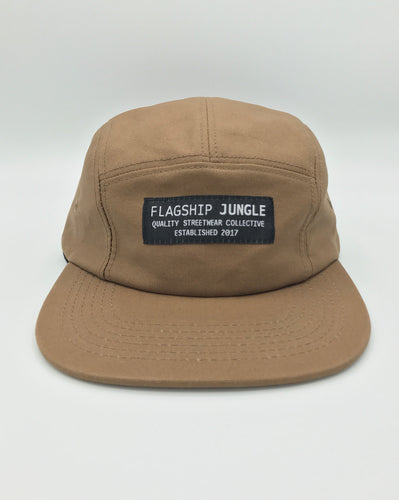 Sahara Brown Waxed Canvas 5-Panel Hat