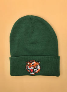 Dark Green Tiger Skully