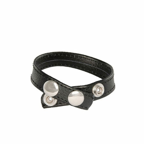 3-Snap Leather Cockring 95068