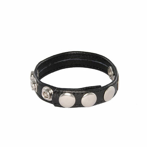 5-Snap Leather Cockring 95066