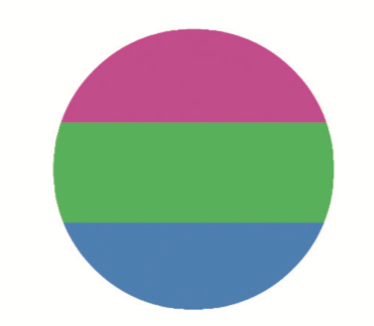 Polysexual Pride Button